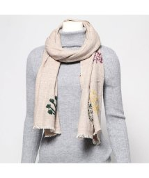 KANKAN/カンカン KANKAN ウールツリー刺繍ショール (ベージュ)/502650004