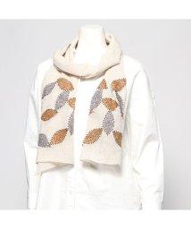 KANKAN/カンカン KANKAN ウールコットンリーフ刺繍ショール (ベージュ)/502650030