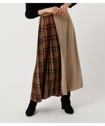 AZUL by moussy/CHECK PLEAT MIX SKIRT/502650830