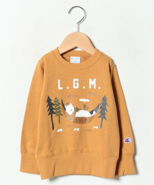 LAGOM(ラーゴム)/【Champion別注】クマプリントトレーナー/1208074881411
