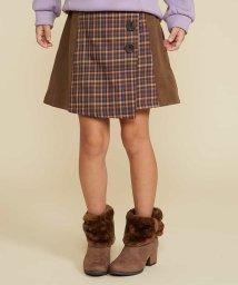 a.v.v(KID'S)/[100-130]チェックキリカエ台形スカート[WEB限定サイズ]/502538635