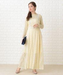 Lace Ladies/刺繍レース長袖ロングワンピース・ドレス/502628434