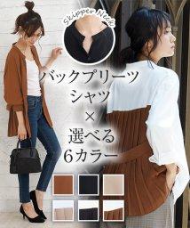 Girly Doll/【girlydoll】バックプリーツシャツ/502628732