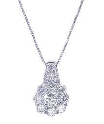 JEWELRY SELECTION/PT 天然ダイヤモンド 計0.9ct フラワー プラチナネックレス 鑑別書付/502648871