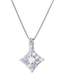 JEWELRY SELECTION/PT 天然ダイヤモンド 計0.5ct フラワー プラチナネックレス カード鑑別書付/502648873