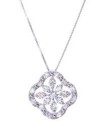 JEWELRY SELECTION/PT 天然ダイヤモンド 計1ct デザイン プラチナネックレス 鑑別書付/502648875
