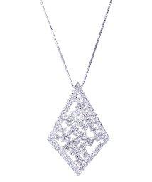 JEWELRY SELECTION/PT 天然ダイヤモンド 計1ct デザイン プラチナネックレス 鑑別書付/502648876