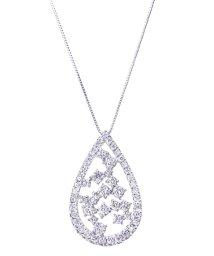 JEWELRY SELECTION/PT 天然ダイヤモンド 計1ct デザイン プラチナネックレス 鑑別書付/502648877