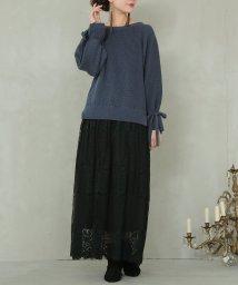 osharewalker/『somariリボンニット×贅沢レースドッキングワンピース』/502652527