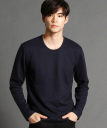 NICOLE CLUB FOR MEN/幾何学柄クルーネックカットソー/502588497