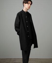 JUNRed/バンドカラーTRロングシャツ/502600103