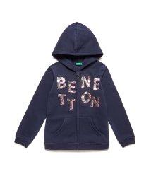 BENETTON (UNITED COLORS OF BENETTON GIRLS)/裏起毛スパンコールスウェットジップパーカー/502631589