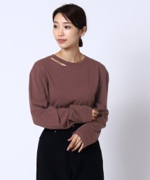 LASUD/[RADIATE]スリットネックTシャツ/502634670