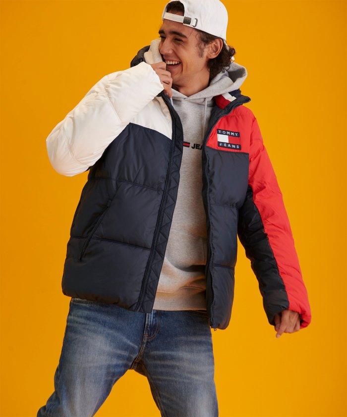 カラーブロックパデッドジャケット