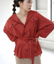 Bou Jeloud/フェイクスエードオーバーサイズシャツ/502647198