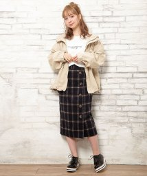 INGNI/ベルト付シャギーチェックナロー/スカート                /502649238