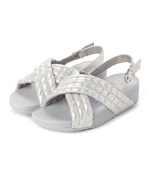 FITFLOP/フィットフロップ fitflop LULU PADDED SHIMMY SUEDE BACK-STRAP SANDALS (Silver)/502654093