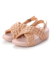 FITFLOP/フィットフロップ fitflop LULU PADDED SHIMMY SUEDE BACK-STRAP SANDALS (Rose Gold)/502654100