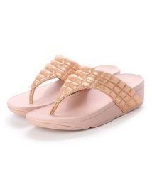 FITFLOP/フィットフロップ fitflop LULU PADDED SHIMMY SUEDE  TOE-THONGS (Rose Gold)/502654101