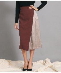 Settimissimo/サイドサテンプリーツデザインスカート/502654871