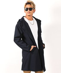 LUXSTYLE/防風加工ストレッチフーデッドオーバーコート/コート メンズ フード ストレッチ 防風加工/502656124
