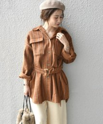 Khaju/Khaju:ストライプシャツジャケット/502656962