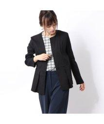 Rename/リネーム Rename リネン隠しボタンデザインジャケット (ブラック)/502657257