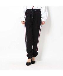 GUESS/ゲス GUESS HANNA SIDE STRIP PANTS (JET BLACK)/502658172