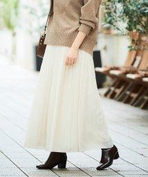 le.coeur blanc/カッセンデシンギャザーマキシスカート/502451369