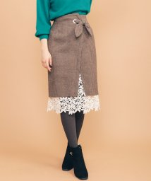 31 Sons de mode/【美人百花11月号掲載】裾レースラップタイトスカート/502658799