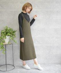 felt maglietta/リブ編みキャミワンピース/502659149