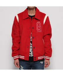 GUESS/ゲス GUESS COLLEGE LOGO VARSITY BOMBER JACKET (TULIP RED)/502664209