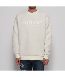 GUESS/ゲス GUESS EMBROIDERY LOGO BOA SWEAT (IVORY)/502664214