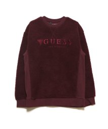 GUESS/ゲス GUESS EMBROIDERY LOGO BOA SWEAT (WINE)/502664215