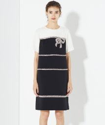 GRACE CONTINENTAL/リボンビジュー刺繍ドレス/502664433