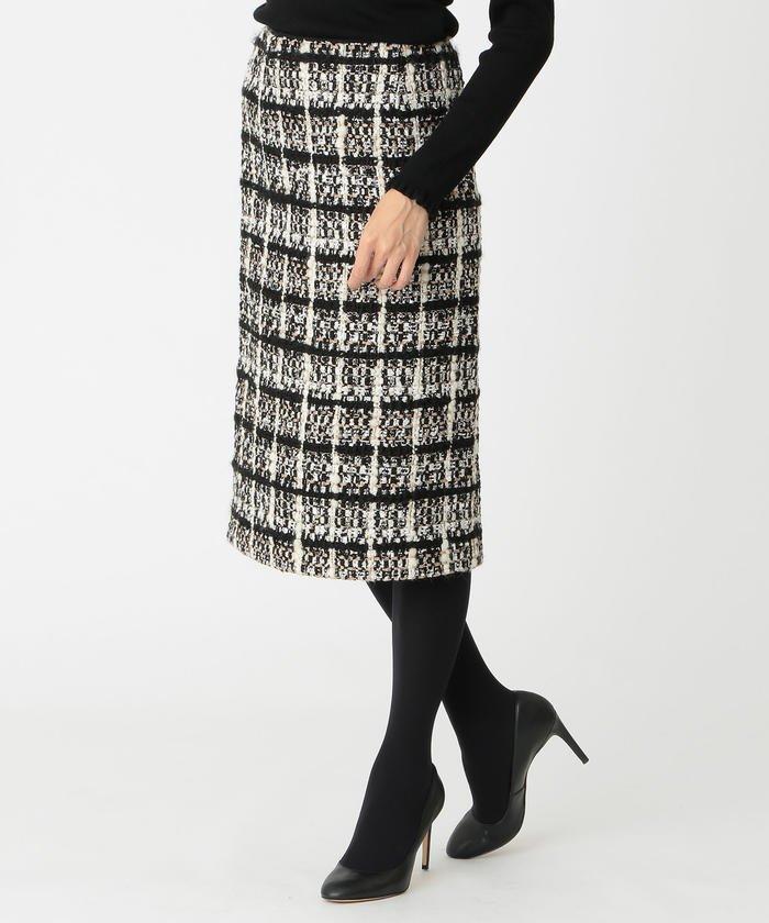 ドミノチェックツイードスカート