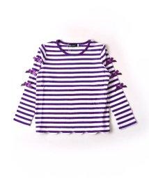 BeBe/タックボーダースカラップTシャツ/502487765