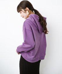 haco!/PBPオーガニックコットン 短め丈でバランスよく着られる裏起毛パーカー/502638309