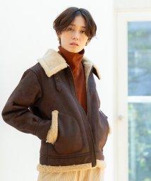 coen/フェイクムートンB-3ジャケット(ブルゾン)/502659705