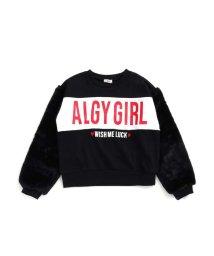 ALGY/ボアスリーブトレーナー/502379533
