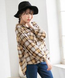 YUMETENBOU/チェック開襟ボリュームシャツ/502638717