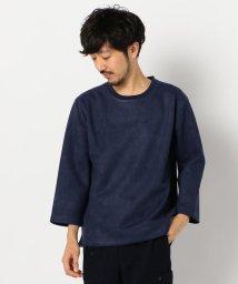 GLOSTER/フェイクスエード 3/4スリーブTシャツ/502650650