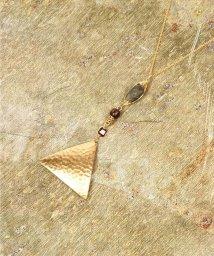 WYTHECHARM/K14GF ラブラドライト縦長×槌目三角プレートネックレス/502656416
