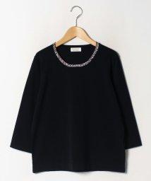 GUEST JOCONDE/【大きいサイズ】ANA 襟ぐりビーズ刺繍プルオーバー/502658905