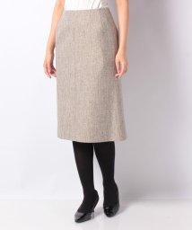 LAPINE BLANCHE/【セットアップ対応】シルク混ツィード 切り替えスカート/502658911