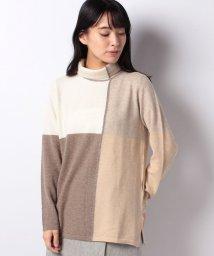 LAPINE BLANCHE/GOBIカシミヤ インターシャセーター/502658918