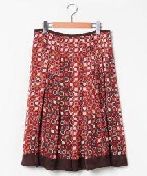 LAPINE ROUGE/【大きいサイズ】【セットアップ対応】幾何柄パネルプリント スカート/502658924