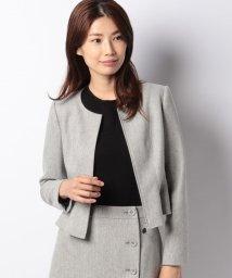 MISS J/【セットアップ対応商品】ストレッチツィード 裾フレアージャケット/502660479