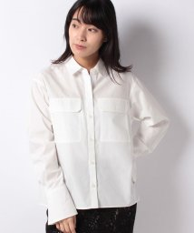 LAPINE BLEUE/【洗える】ブロードシャツ/502660491