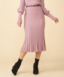 ROYAL PARTY/【セットアップ対応商品】ベルト付リブフレアニットスカート/502666022